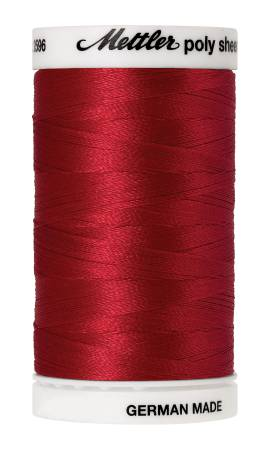 Poly Sheen Polyester Embroidery Thread 40wt 140d 800m/875yds Poinsettia
