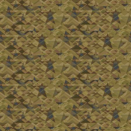 Scrap Happy Light Green Star Mosaic by Janet Rae Nesbitt