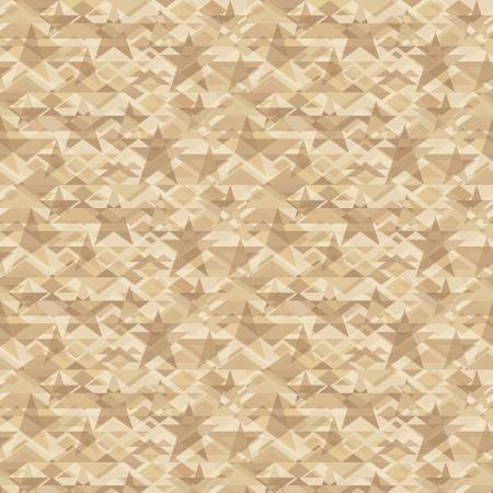 Scrap Happy - Taupe Star Mosaic