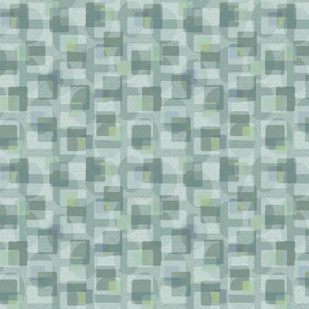 Scrap Happy - Lt Blue Square Textile
