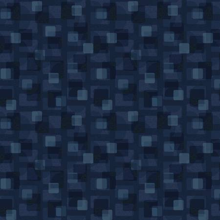 Scrap Happy - Blue Square Textile