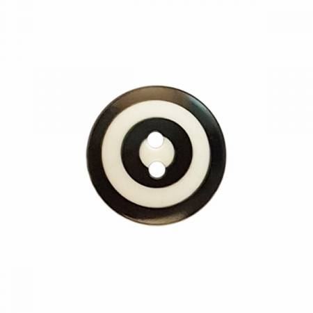 Kaffe Fassett Button Target Black/White Sm 15mm