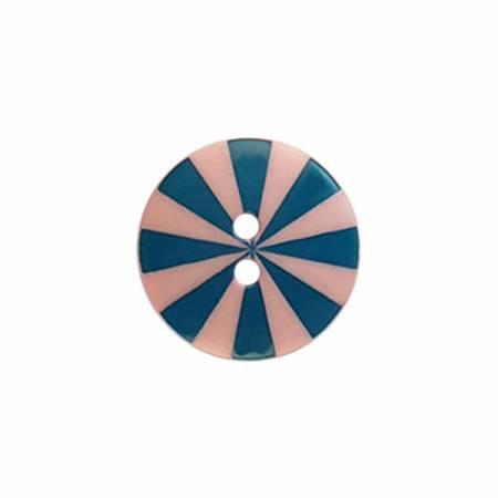 Kaffe Fassett Button Radiate Pink/Blue Sm 15 MM