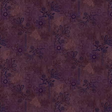 Scrap Happy - Dark Purple Mixed Media