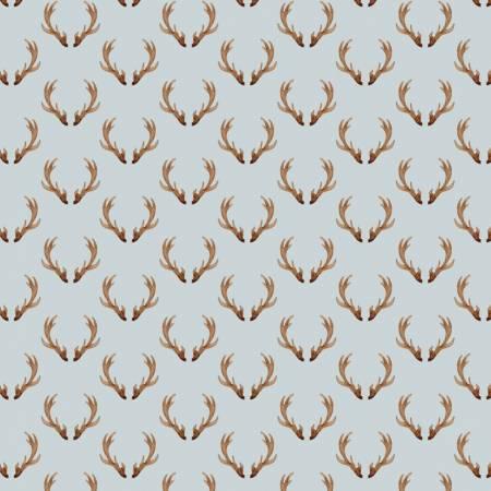 Grey Antlers Digitally Printed
