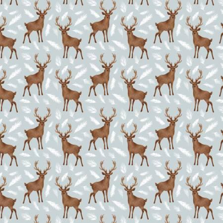 Winter Woods 26180204J-1 Grey Oh Deer