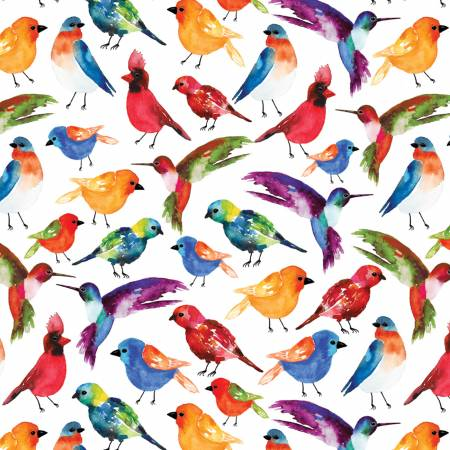Multi Birds Digitally Printed