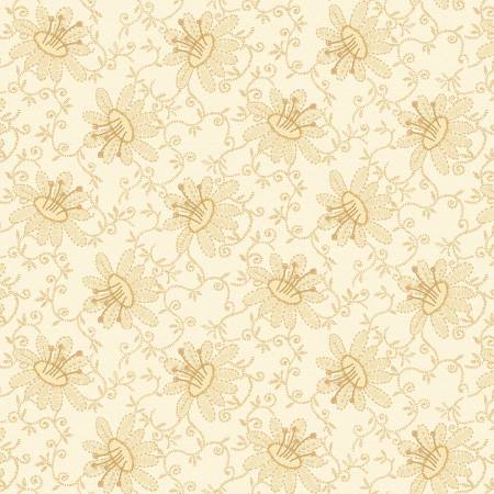 White Wash Lacey Floral by Janet Rae Nesbitt