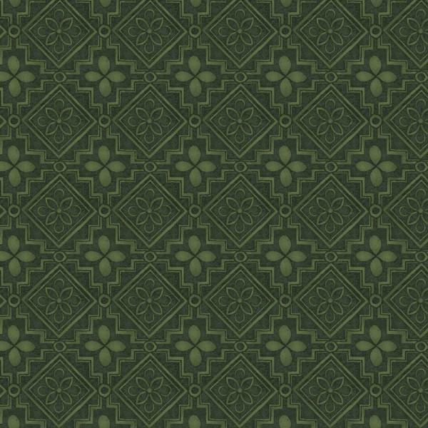 Garden Melodies Green Geometric Fabric Yardage 26230-GRE1
