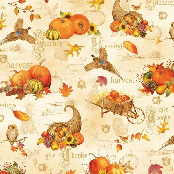 Autumn song Multi Large All Over w/Metallic