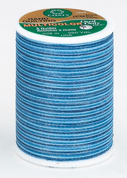 Multicolor Cotton/Polyester Quilting Thread 250yds Blue Clouds