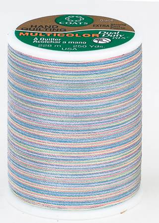 Multicolor Cotton/Polyester Quilting Thread 250yds Baby Pastels