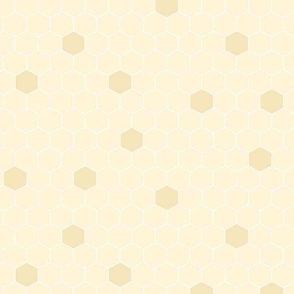 Cream Honeycomb Hexagons:  Quilting Bee by Michael Palmer for Red Rooster Fabrics