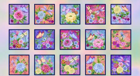 24 Gossamer Pastel Garden Blocks