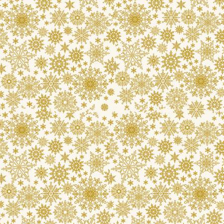 A FESTIVE SEASON - Cream Metallic Snowflake 2650MB 07