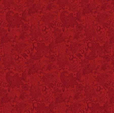 A Festive Season ~ Red Tonal Paisley