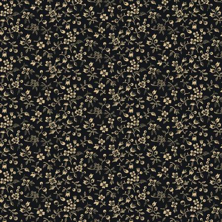 Black Petite Floral 108in Wide Back