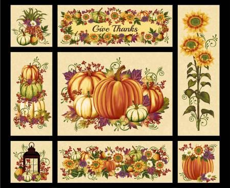 Pumpkin Harvest - Cream Harvest Panel 36x 44 2665P-33