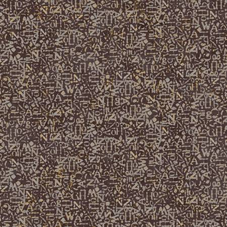 Brown Graffiti Texture w/Metallic 26662-BRO1