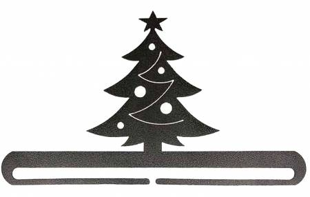 12 in Christmas Tree Split Bottom Charcoal