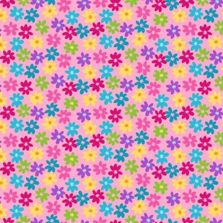 Pink Flat Flower bloom