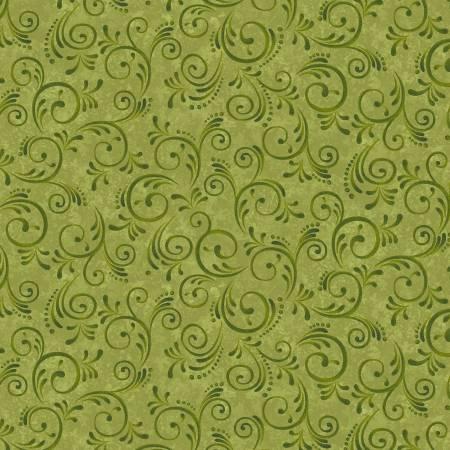Pumpkin Harvest Green Swirls