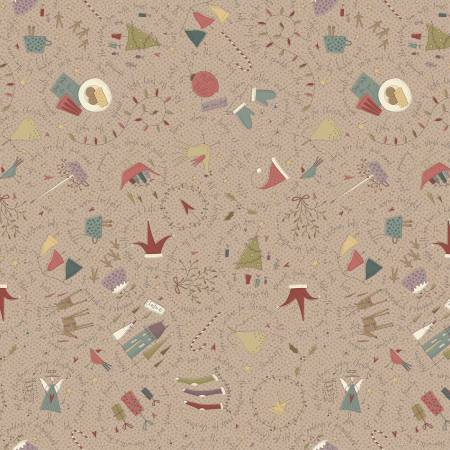 Taupe Christmas Large Allover