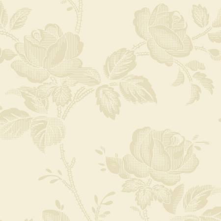 Garibaldi-Light Beige Large Rose Reproduction