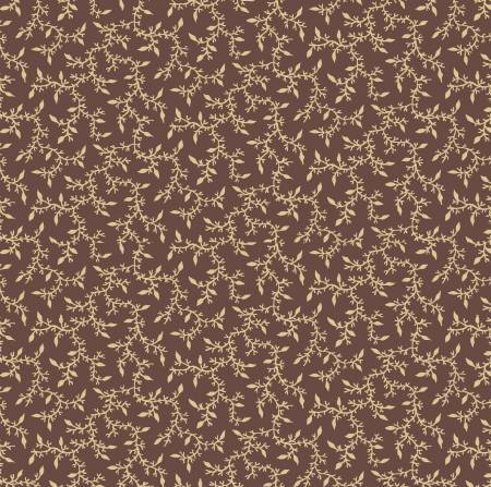 Antebellum Brown Small Leaves Reproduction