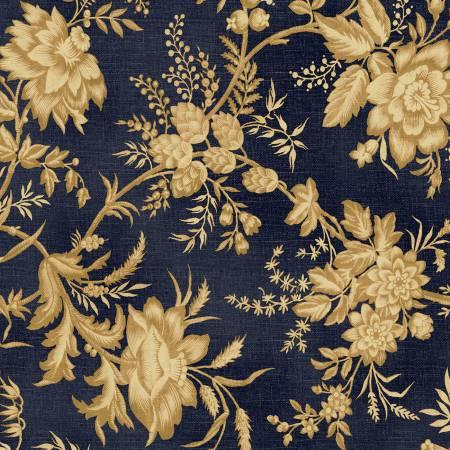 Blue Large Floral