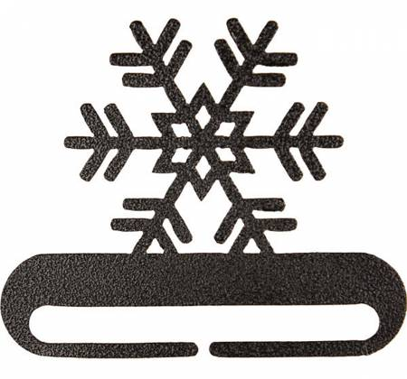 6in Snowflake Split Bottom Charcoal