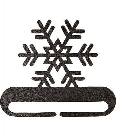 12in Snowflake Split Bottom Charcoal