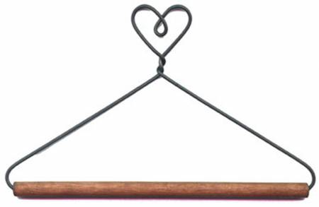 4in Heart With Stained Dowel Hanger