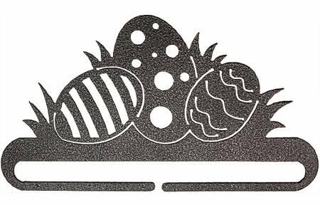6in Easter Eggs Hanger With Split Bottom Charcoal