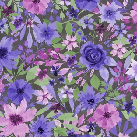 Amethyst Magic Black Large Floral 27579-967