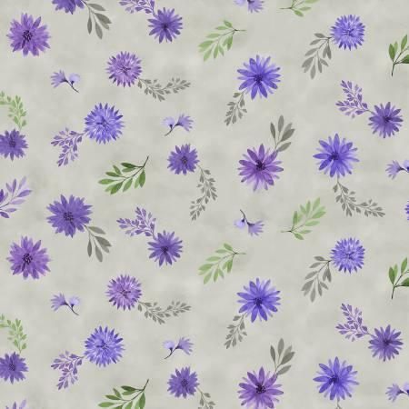 Amethyst Magic - Small Floral - Grey - 27581-969