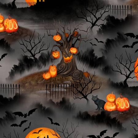 Haunted Night Black Scenic