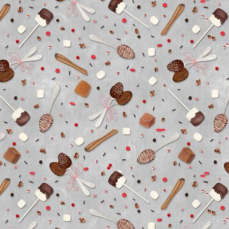 Hot Cocoa Grey Spoons & Sprinkles
