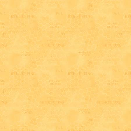 Yellow Honeycomb Texture - Art of Beekeeping by Danielle Leone