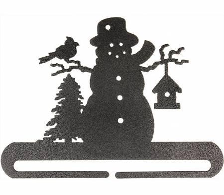 8in Frosty Snowman Split Bottom Holder Charcoal - 27702