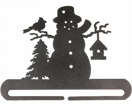 12in Frosty Snowman Split Bottom Holder Charcoal