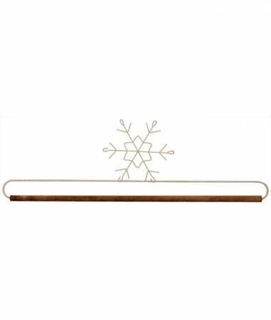 16in Snowflake Holder With Dowel Tex White