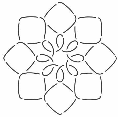 7 Quilt Stencil Block Design 27