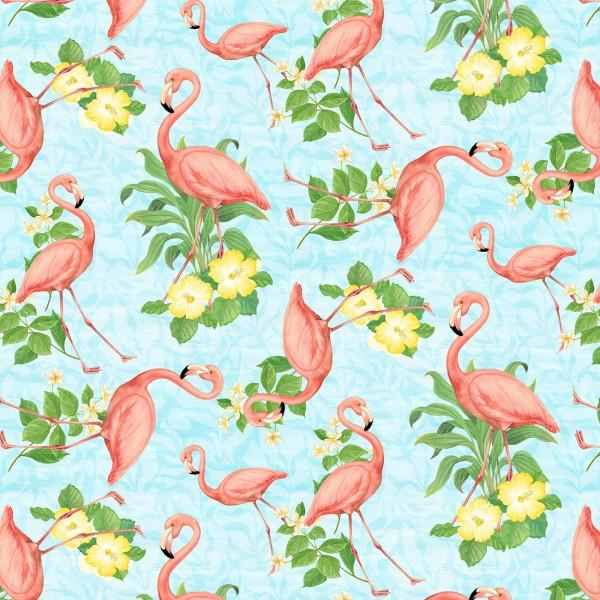 Light Blue Flamingos
