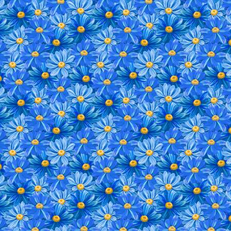 Blue Packed Daisies, Madison, Wilmington Prints
