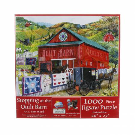 Stopping at the Quilt Barn 1000pc