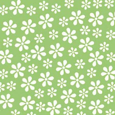 Basic Brights - Green Daisy - 29399-3