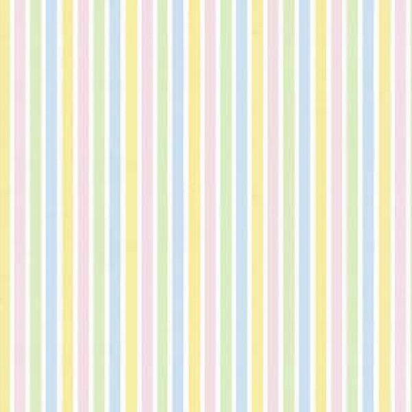 White/Multi pastel Stripes