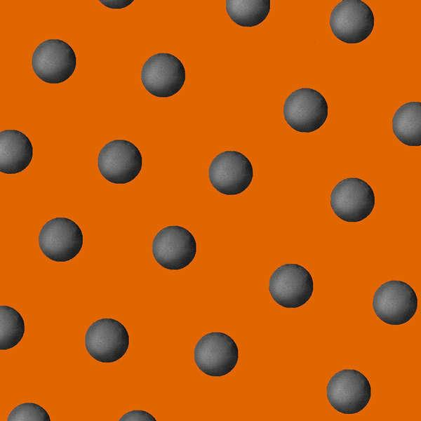 Cheeky Pumpkin Orange w/Dots
