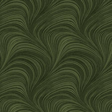 Dark Green Wave Texture